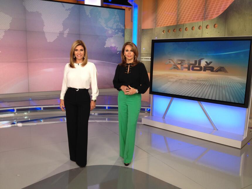 En las distintas etapas del programa, María Elena Salinas y Teresa Rodrí...