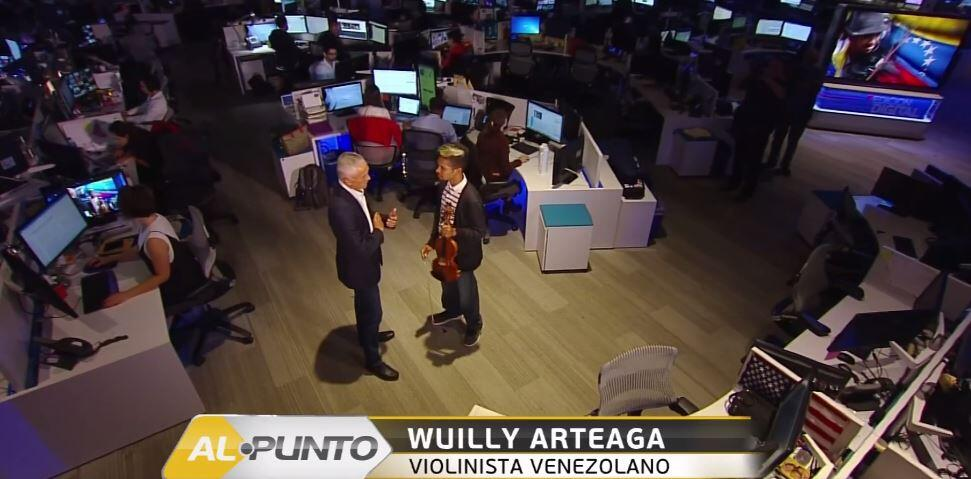 Wuilly Arteaga makes appearance on Al Punto with Jorge Ramos