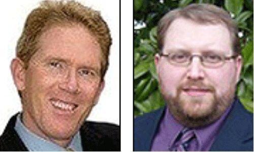Candidatos del Partido Independiente de América: Tom Hoefling y J.D. Ell...