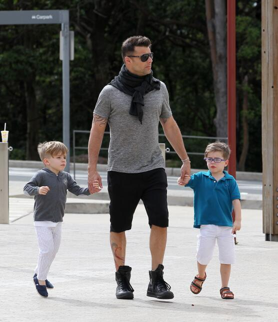 Ricky Martin spends some father and sons time in Sydney.