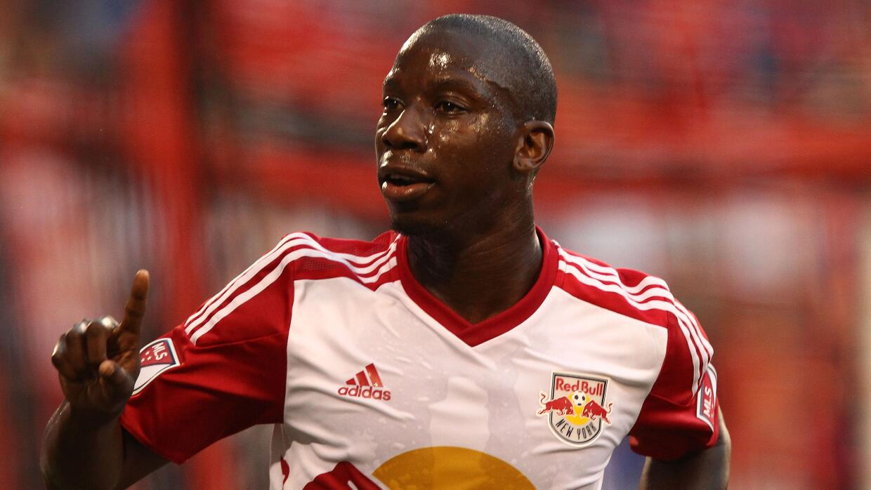 Bradley Wright-Phillips celebra un gol con los Red Bulls