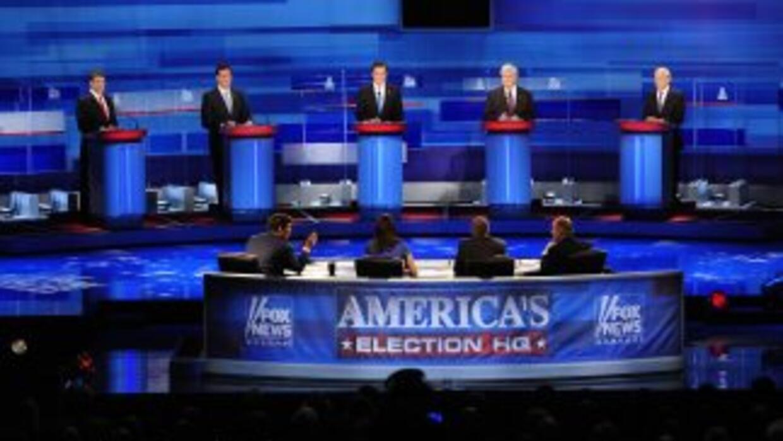 Los precandidatos republicanos debatieron el lunes en Carolina del Sur,...