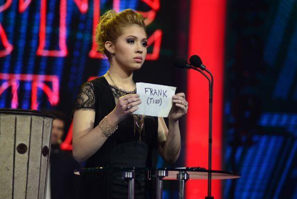 Paloma votó en contra de Frank en la octava gala, enviando a muerte súbita.