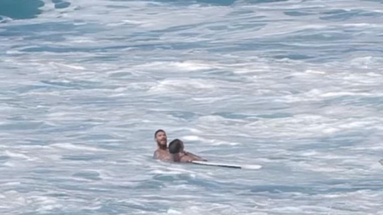 Rescate del pro surfer Evan Geiselman