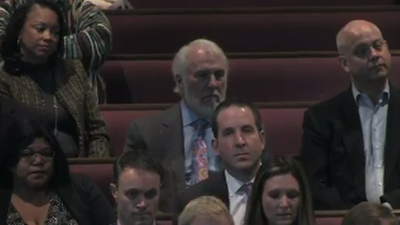 Coach Gregg Popovich Attending Craig Sager's Funeral