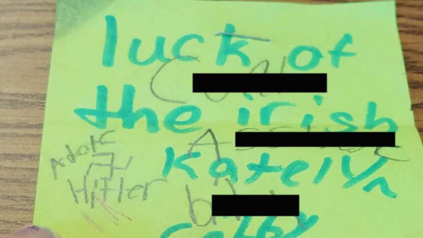 """Una niña judía encontró en su escritorio un mensaje que decía: """"sue..."""
