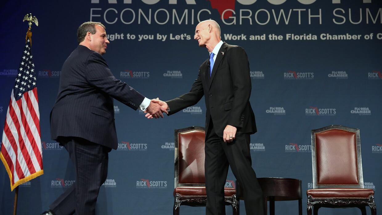Gobernador de New Jersey, Chris Christie y el gobernador de Florida, Ric...