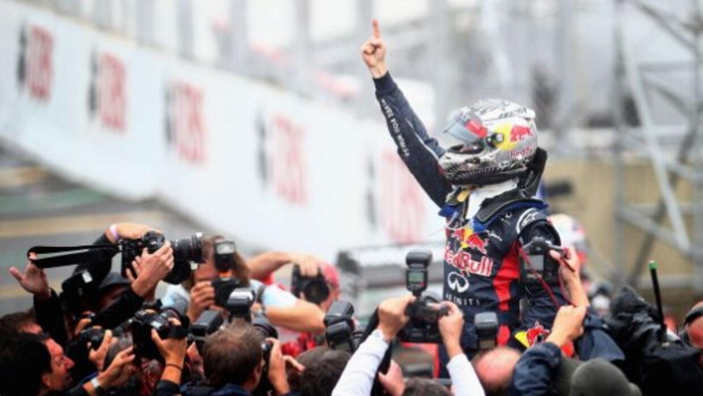 El sexto lugar en Brasil le bastó a Vettel para coronarse tricampeón de...