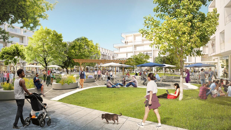 El parque comercial en el pueblo propuesto por Facebook.