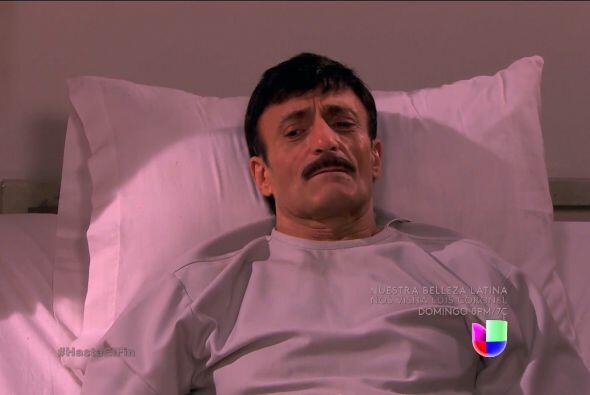 Mientras, Marisol aprovechó para visitar a su papá en el hospital.