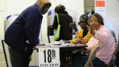 Harlem es un bastión demócrata que apoya la política del presidente Bara...