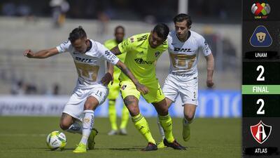 Pumas acaba ridiculizado tras perder su ventaja en el último segundo contra Atlas