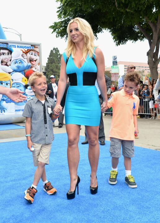 Singer Britney Spears and her sons Sean Federline and Jayden James Feder...