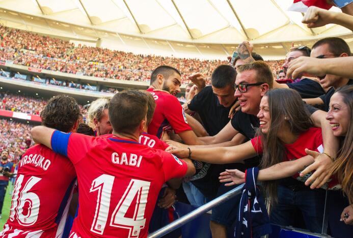 Atlético de Madrid hiló triunfos en su nueva casa y es segundo de La Lig...