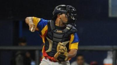 El receptor venezolano en una acción del juego.