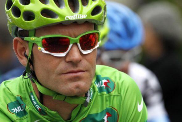 El español José Joaquín Rojas, ganador del maillot verde en la séptima e...
