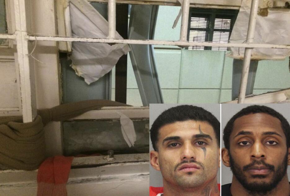 Imagen de la celda de donde se escaparon Rogelio Chávez y Lanon Campbell...