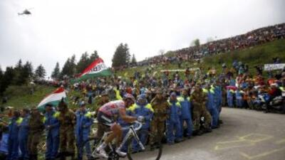 Contador fue más rápido que el italiano Nibali, segundo a 34 segundos de...
