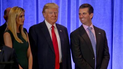 Donald Trump pasa sus negocios a sus hijos para evitar conflicto de inte...
