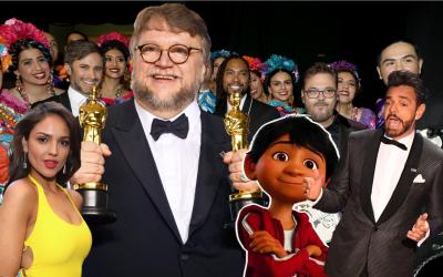 Guillermo del Toro, Eiza González, Eugenio Derbez y representantes de la...