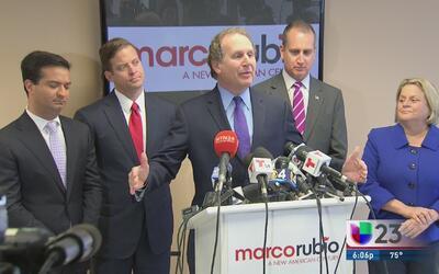 Líderes republicanos de Florida dan apoyo a Marco Rubio