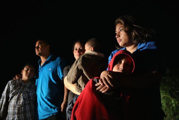 Este grupo de inmigrantes fue detenido la noche del 8 de septiembre cuan...