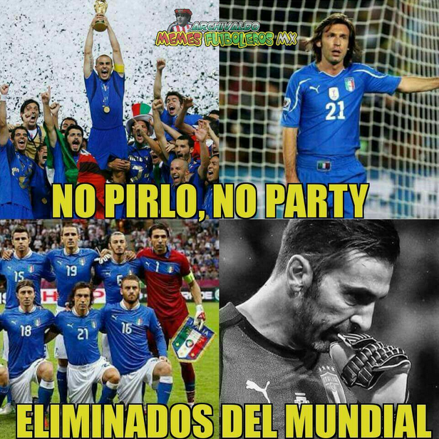 Memes tras la eliminación de Italia: entre despedida a Buffon y burlas a...