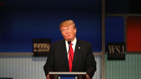 Trump durante un debate.