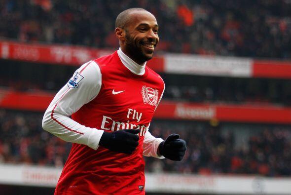 En el décimo lugar tenemos al francés Thierry Henry quien tiene una fort...
