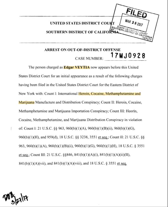 Este 28 de marzo fue detenido en San Diego el fiscal Edgar Veytia, acusa...