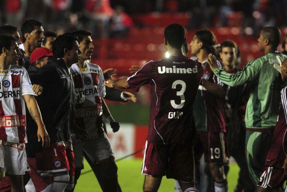 El partido entre Fluminense y Argentinos Juniors por el Grupo Tres de la...