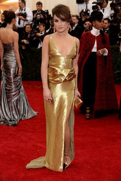 Lea Michele ha perdido el buen toque para la moda y en esta ocasión lo d...