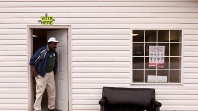 Centro de votación en Carolina del Sur
