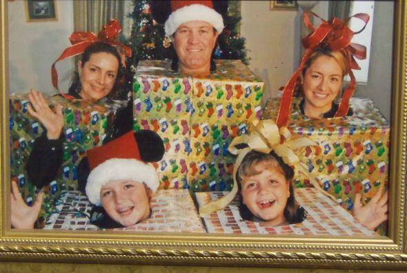 ¡Sin duda alguna esta familia es aficionada de la Navidad!