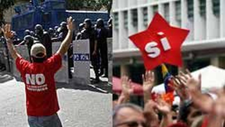 Miles de venezolanos se lanzaron a manifestarse a favor y en contra del...