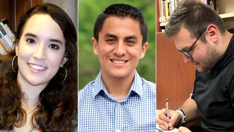 Tatiana Patiño, Luis Otero y Armando Cendejas decidieron estudiar...