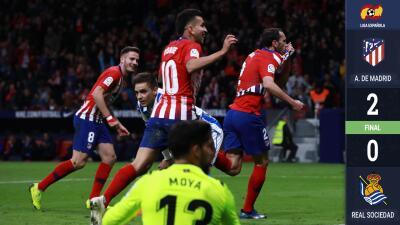 Godín y Filipe Luis, le dan el liderato provisional al Atlético de Madrid