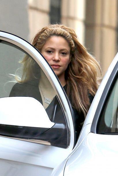 Shakira no llevaba nada de maquillaje.