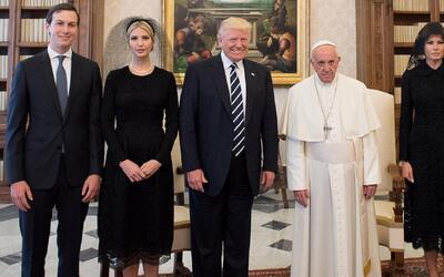 Imágenes del presidente Trump y el papa Francisco en el Vaticano inspira...
