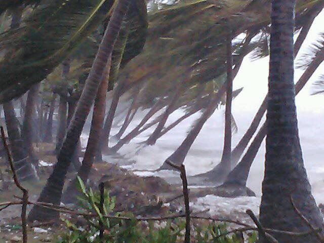 On Monday afternoon winds from Hurricane Matthew began to whip up seas o...