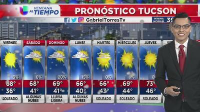 Viernes con condiciones soleadas en Arizona