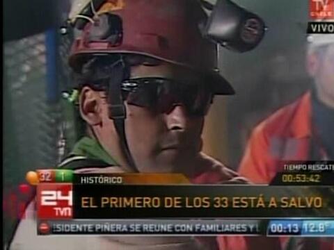 El minero Florencio Ávalos, de 30 años de edad, fue el pri...