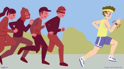 El riesgo más común de los fitness trackers  es la posibilidad de regist...