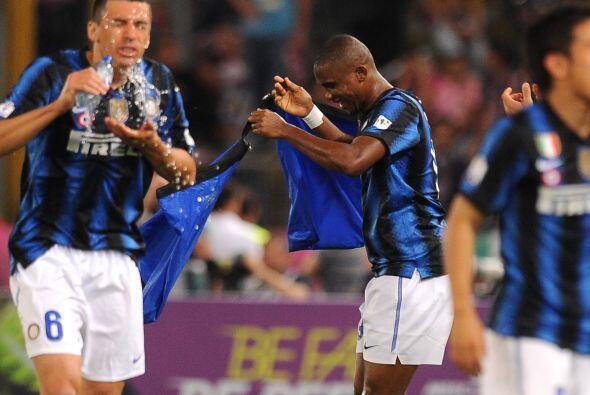 Gran gol por parte del '9' del Inter.