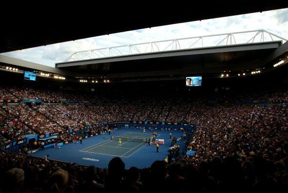 El estadio a tope para ver a los dos mejores del mundo.