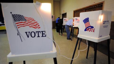 Urnas en las elecciones presidenciales de 2012