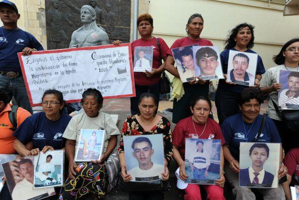 La caravana debe llegar este lunes a Ixtepec, Oaxaca, segunda escala del...