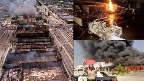 Fotografías de los disturbios en Los Ángeles en 1992.