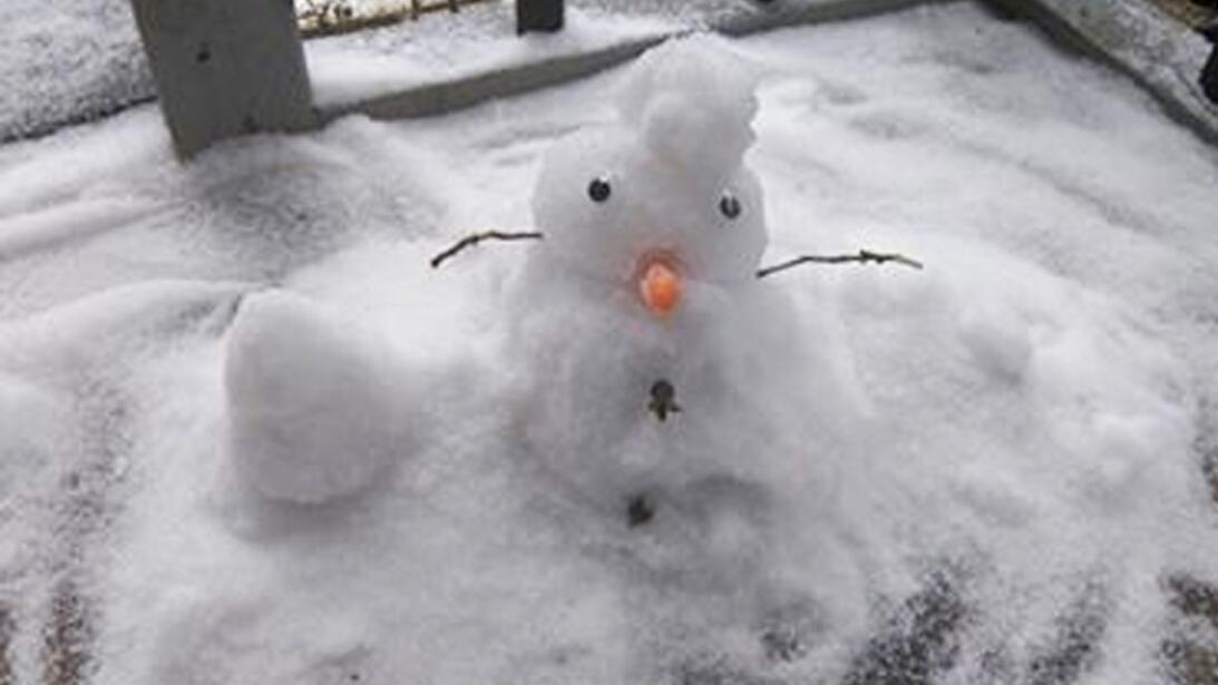 Curiosas imágenes de la tormenta invernal captadas por residentes del ár...