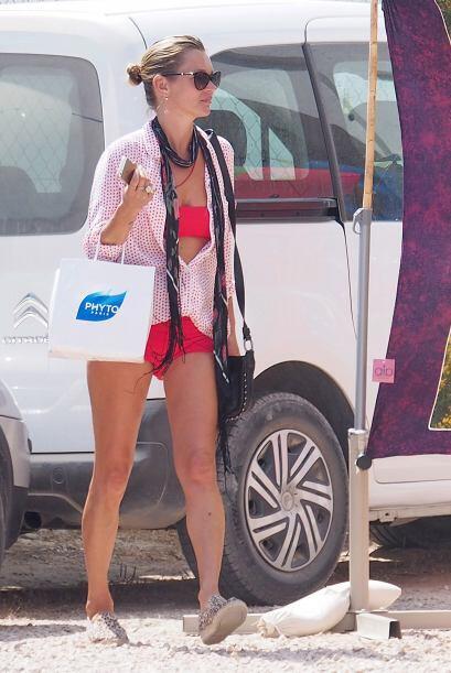 La modelo se encuentra en Formentera, España.